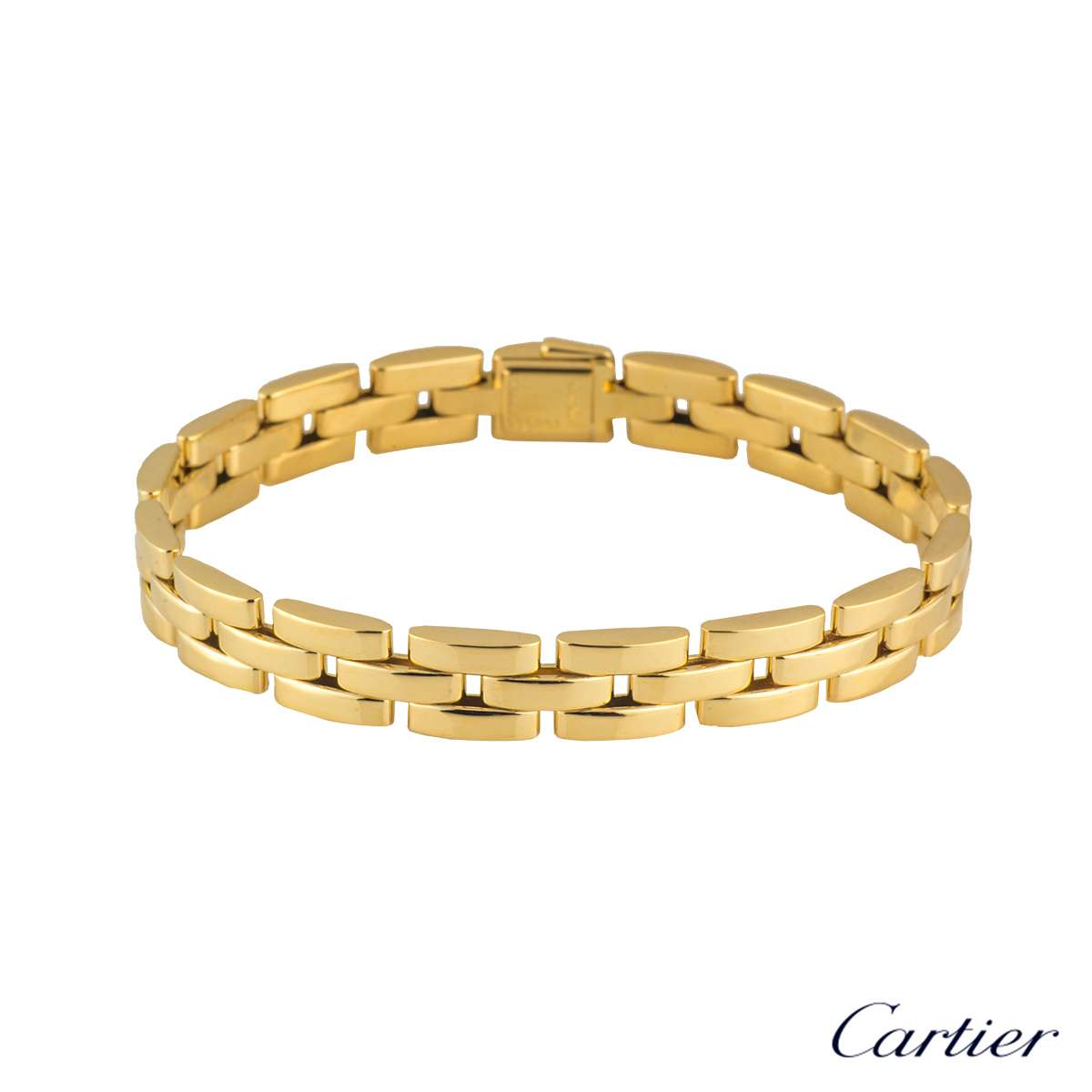 Cartier Infinity Bracelet: Cartier 18k Yellow Gold Maillon Panthere Bracelet B6030900